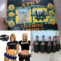 beer pack sizes - Party Pack Beer Belt Outdoor Sport Camping Party Supplies Drinks Belt Adjustable Size Unisex Colors Multifunction Canvas Belts Use