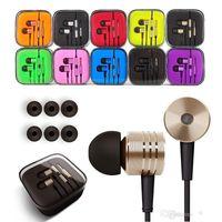 apple earpods original - Original Xiaomi iphone5 plus Earphone Headphone earpods Headset mm Handsfree with Mic Earphones for with Retail Box better