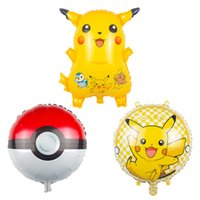 balls birthday gift - Poke go Pikachu Balloons style children kids Poke Ball pokeball Birthday party decoration Balloons Halloween Balloon toys gift