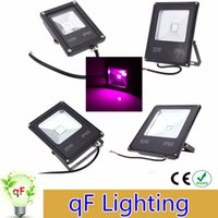 Wholesale 10pcs W W W W IP65 Water resistant Ultra thin LED Flood Light Plant Grow Light Hydroponic Lamp for Outdoor Indoor