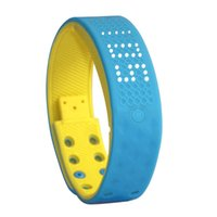 android make - 2016 Made in China TW2 multifunctional D pedometer smart intelligent waterproof bracelet wrist band BLUE YELLOW