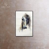 al por mayor pintura cebras-Pintura moderna del arte de la pared de la lona de los animales del caballo Pintura al óleo de la cebra para la decoración casera de la sala de estar Imagen retra de la pared Unframed