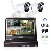 Wholesale 10 LCD Digital Monitor CH X P MP Wireless CCTV IP Camera CH NVR DVR Home Security System PAL NTSC Motion Dection Network Kit