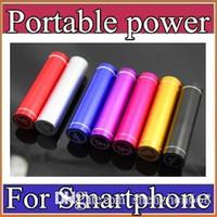 Portable power supply Baratos-Batería de aluminio de moda 2600 mAh Banco de energía Batería externa de reserva portátil Cargador móvil USB Fuente de alimentación móvil A-YD