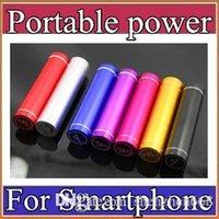 Portable power supply Baratos-Moda del lápiz labial de aluminio 2600 mAh banco portable de la batería de reserva externa del USB cargador de móvil Fuente de alimentación móvil A-YD
