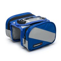 Wholesale Waterproof Cycling Bike Bicycle Front Frame Bag Tube Pannier Double Pouch for in Cellphone Bag Color