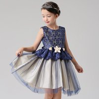 amazon images - 2016 Amazon explosion paragraph summer girls sleeveless dress children Europe and the United States Princess skirt yarn dress skirt