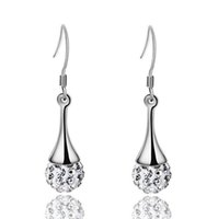 Wholesale Top Grade Silver Earrings Hot Sale Shambhala Drop Dangle Earrings For Women Girl Party Gift Fashion Jewelry Free Ship WH