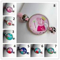 Wholesale 24pcs Mixed models popular lovely Bracelet for children Girls Glass pink bracelet Handcuffs bracelet Cartoon Movie bracelet