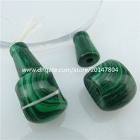 Wholesale Charming Green Stone Religious Buddhism Three Direct Link Bead Pendant Jewelry Making