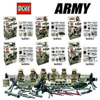 africa north - Doll D163 Battle of North Africa Army Sandbag Minifigures Building Block Minifigure Toys