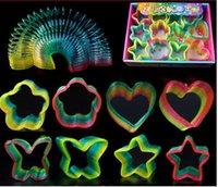 Wholesale Intelligence toys Dazzle colour rainbow circle Kid Rainbow magic circle Style in stock Via DHL ship
