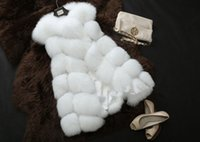 Wholesale New Spring hot sale Fox Fur Vest Faux Fur Fox Waistcoat Luxury Fur Women Coats Jackets Lady Gilet Outerwear Vests Gift