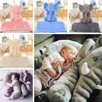 baby blanket sleeper - Hot Elephant Baby sleeping pillow blanket Elephant Plush Toys dolls INS Elephant Stuffed Animal Toys Elephant Throw Pillow LJJP270