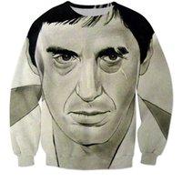 al pacino movies - Newest Movie Scarface Character Al Pacino d sweatshirt Women men Harajuku Vintage Crewneck Hoodies Pullovers Casual Outerwear