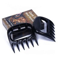 barbecue grill supplies - 100 pairs Bear Claws Grill Roasting Meat Forks Shredding Handlers Tongs Outddor Home BBQ Barbecue Cooking Tools Supplies