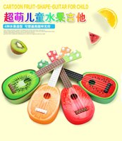 Wholesale Children s mini simulation Yucheli fruit Four string small guitar can play Puzzle Zaojiao Musical Toys years years old