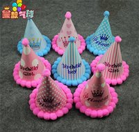 baby cock - The new children birthday cocked hat Baby birthday party decorative props birthday party hair bulb hat cm