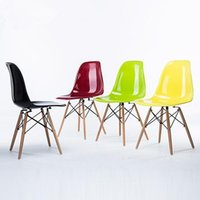 beech dining chairs - New Dining Chair Home Chairs Office Chairs Computer Chairs Wedding Party Charis with Colorful Seats and Beech Wood Legs