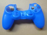 Ps ps4 contrôleur ps4 couvre caoutchouc de silicone souple protection de la peau poignée cas pour PS4 PS3 contrôleur