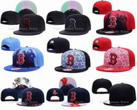 Wholesale Boston Red Sox Snapback Hats New Arrival Men s Baseball Team Embroidered Letter B Logo Adjustable Flat Caps Mix Orders Acceptted