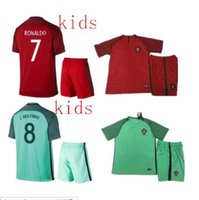 Wholesale Top thailand quality portugaleds CR7 kids shirts camisetas de soccer maillot foot the EURO king kids hot sale shirts