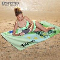 bath money - 2015 Hot Beach Towel Bath Towel Money Printed Patterns cm inch Pool Swimming Drying Towel Microfibra Toalla Playa
