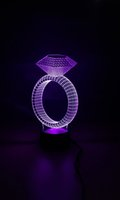 baby diamond rings - Diamond Ring Shape Table Lamp D Led Holiday Night Light Fun Light For Baby and Decoration YJM