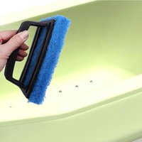 bath kitchen tile - Multipurpose kitchen cleaning thick sponge brush wall tile glass brush with handle bath brush g