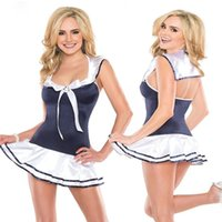 Wholesale Navy blue Teddy lingerie Silk Baby doll sexy lingerie high quality free size drop shipping