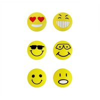 Wholesale FANGCAN Styles Tennis Squash Racket Silicone Cute Emoji Face Shock Vibration Dampener Abosrber