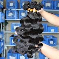 Wholesale 7A Brazilian Hair Bundles Natural Black Color Body Wave Malaysian Peruvian Mongolian Indian Human Hair Extension