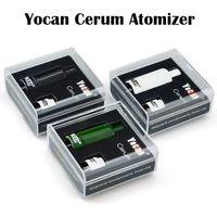 Cheap Authentic Yocan Cerum Atomizer Full Ceramic Wax Vaporizer With Spare Quartz Dual QDC Coil Fit 1100mAh Yocan Evolve Plus Battery 510 Box Mod