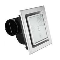 Wholesale bathroom ceiling fan household kitchen fan glass panel