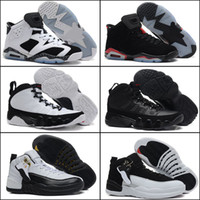 Wholesale with shoes Box NEW Retro III IV VI XII Oreo Black White Cement Men Basketball Shoes Kids shoes SIZE US