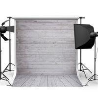 Precio de Vinil fondos de fotografía-5x7ft pared de madera del piso Estudio Prop Fotografía de vinilo, fondo de fotos