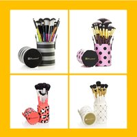 bh shipping - Professional Free DHL NEW BH Cosmetics BH Pink A Dot Brush Set Professional Makeup Brushes