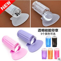 Wholesale freeshipping cm new Nail seal transparent full offset head nails purple transparent handle silicone seal head high quality hot