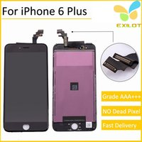 Wholesale Grade A LCD Display Touch Digitizer Complete Screen with Frame Full Assembly Replacement for iphone plus inch