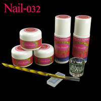 acrylic glass mold - Clou Beaute Nail Art White Pink Clear Acrylic Powder Liquids Glass Dappen Dish D Mold Nail Brush