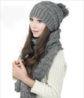 active shelfs - Shelf new Ms wild wool scarves hats set hat cm Scarf full Qinglun Sha line