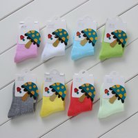 baby no show socks - Baby Kids Cotton Socks Crew Socks Unisex for Boys and Girls Super Quality Breathable No Show Casual Socks Multicolored W22