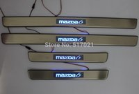 Wholesale High Quality Side Door Sill Blue LED Scuff Plate Trim For M6 Atenza yh