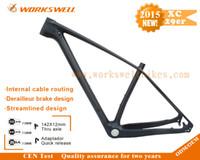 Wholesale Bicycle Parts Bicycle Frame High Quality Full Carbon Fiber Mountain Bike Frame er Carbon MTB Frame er send free thru axle