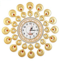 Wholesale 1 India wind quartz clock creative metal simple wall clock living room bedroom quiet clock