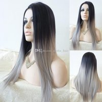 Cheap straight synthetic hair Best ombre wig