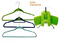 Wholesale New Arrive Home Creative Mini Flocking Clothes Hanger Easy Hook Closet Organizer