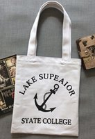 ba shops - South Korea original small pure and fresh and contracted letters canvas bag men and women type literary environmental protection shopping ba