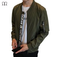 Wholesale Fall Jacket Men s Overcoat Casual Bomber Jackets Men Outdoor Windproof Waterproof Thin Coat Jaqueta Masculina Clothing Army S XL J35