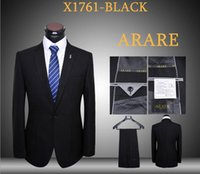 Wholesale Mens suits with pants black one button pieces tuxedos man business blazers slim fit daily sets